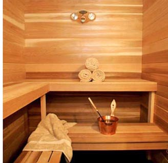 Sauna at Whalewalk Inn on Cape Cod